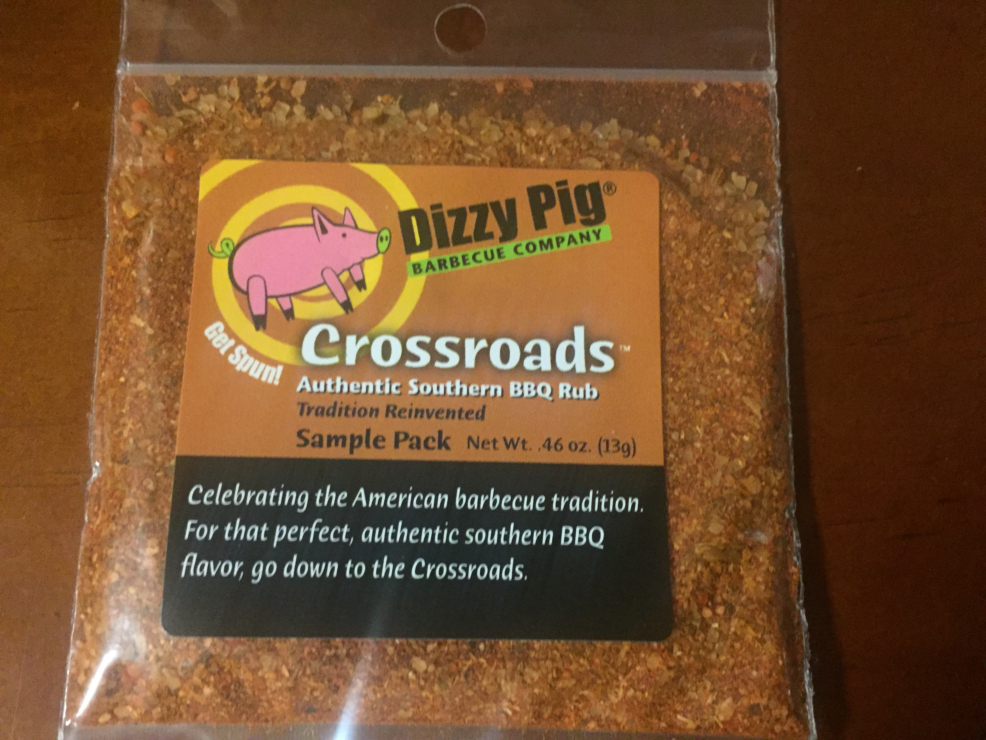 Dizzy Pig Seasoning, Crossroads – Authentic Southern BBQ Rub