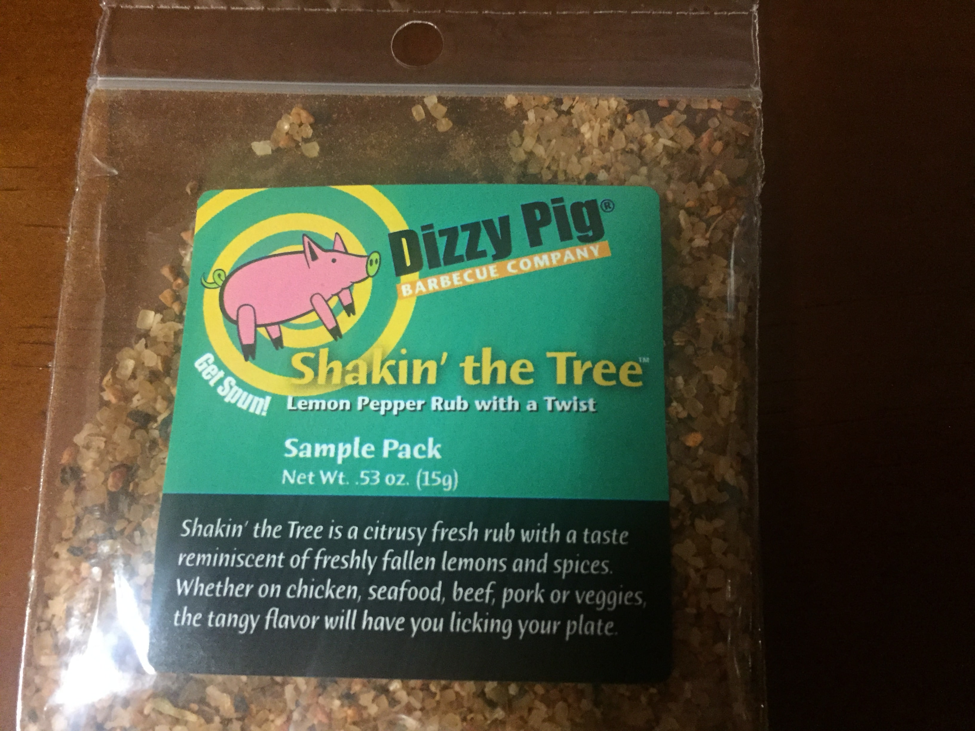 Dizzy Pig Seasoning, Shakin' the Tree – Lemon Pepper Rub with a Twist