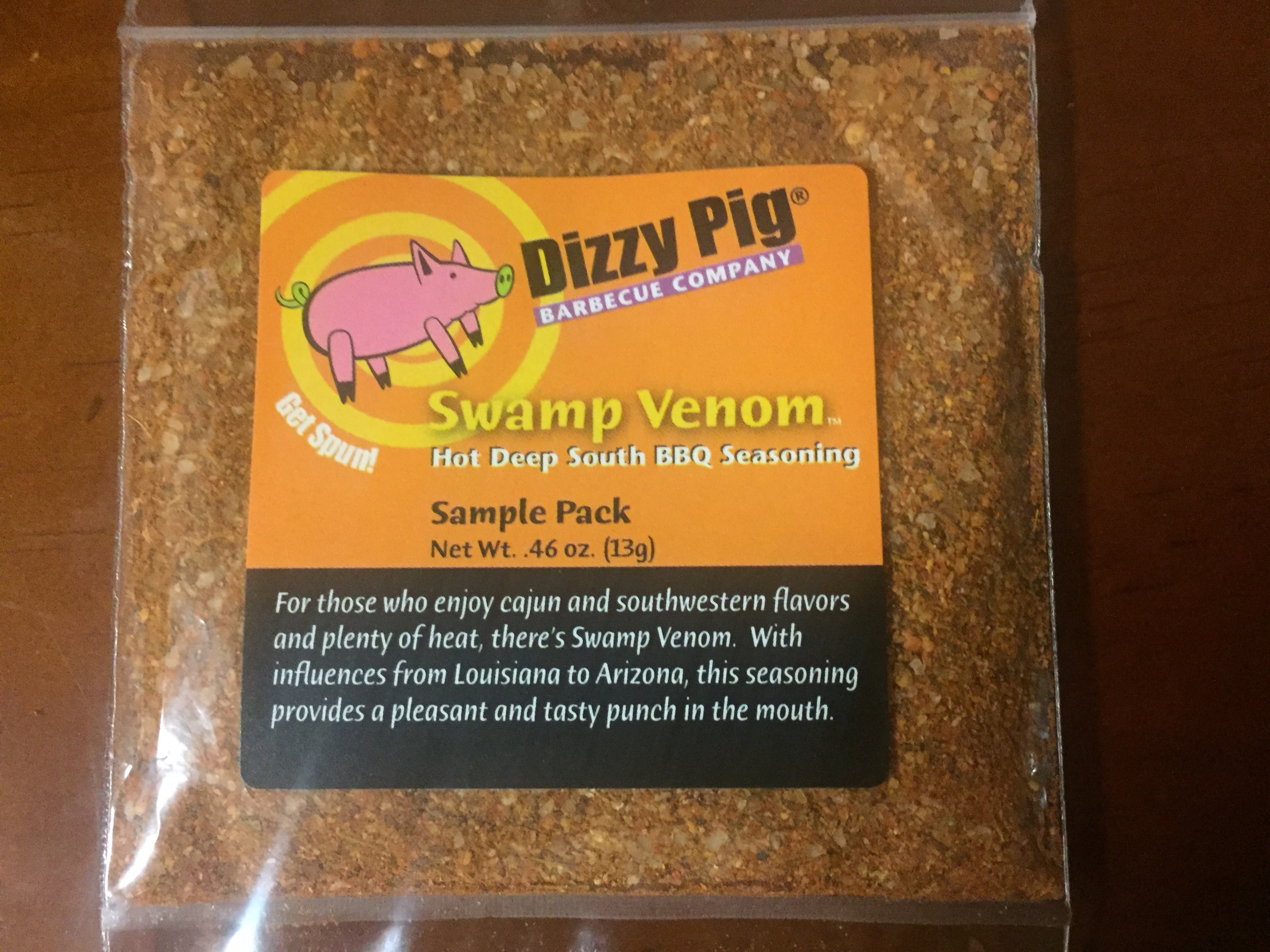 Dizzy Pig Seasoning, Swamp Venom – Hot Deep South BBQ Seasoning