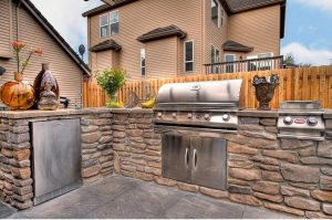 Built In BBQ Island Gas Grill, Types Of Outdoor Grills