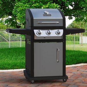 Best Low Cost Gas Grills, Dyna-Glo DGB390SNP-D Smart Space Living 36,000 BTU 3-Burner LP Gas Grill