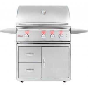 Blaze Professional 34-Inch 3-Burner Freestanding Propane Gas Grill, Best Luxury Gas Grills