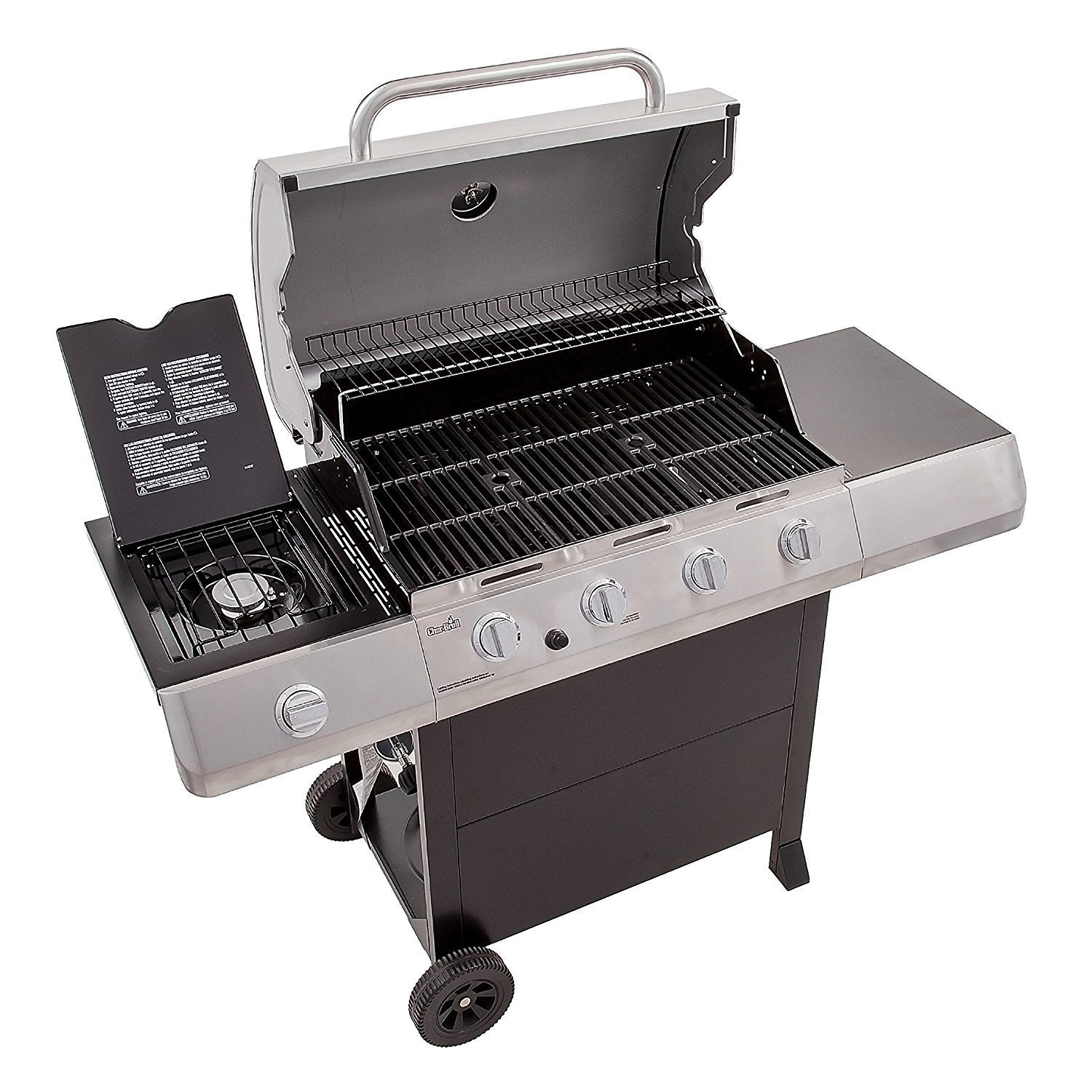 Char Broil Classic 4 Burner Grill, View Under The Hood