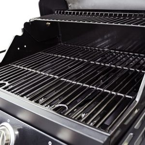 Dyna Glo Smart Space Living 3 Burner Gas Grill, Cast Iron Porcelain Enamel Cooking Grates