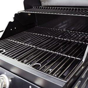 Dyna Glo Smart Space Living 3 Burner Gas Grill, Cast Iron Porcelain Enamel Cooking Grates