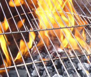 How to Start a Charcoal Grill, Lighter Fluid Doing Its Thing