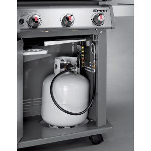 Weber Spirit E 310 Grill, Enclosed Propane Storage And LP Fuel Gauge