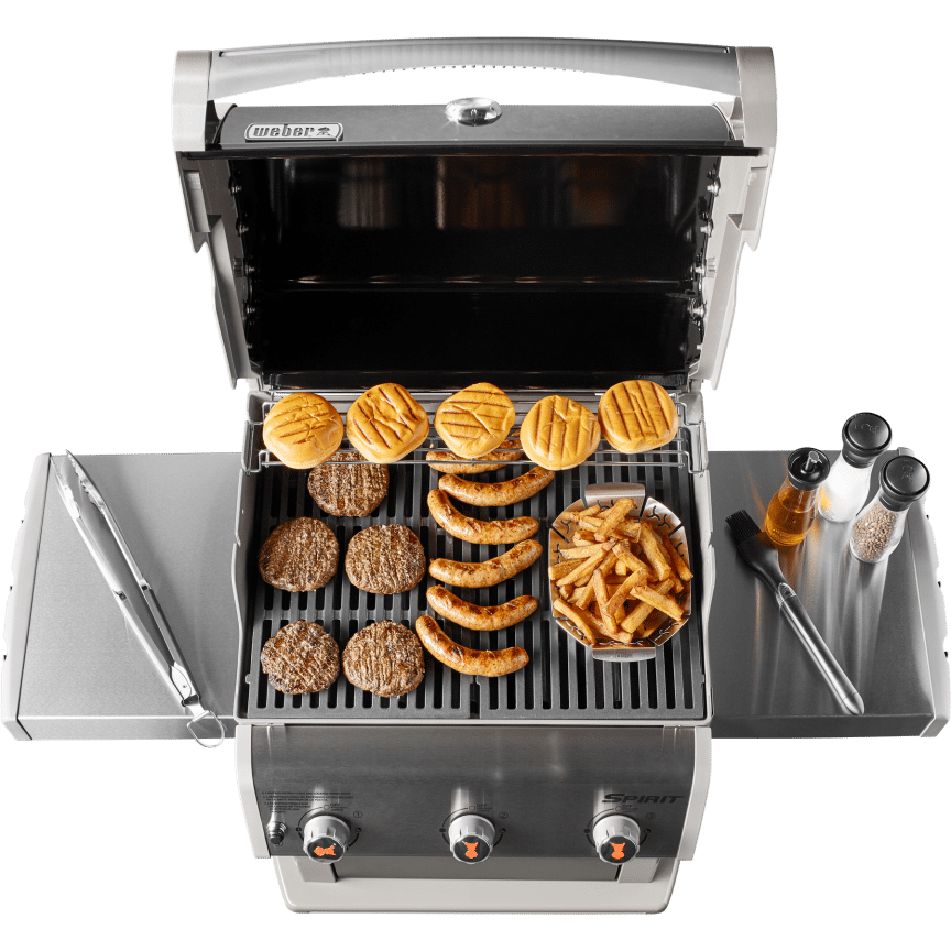 weber spirit e 310 grill grill capacity the grilling life. Black Bedroom Furniture Sets. Home Design Ideas