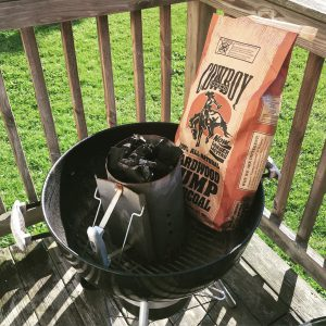 Using A Charcoal Chimney Starter