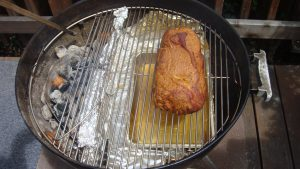 What Is Indirect Grilling, Pork Shoulder Being Smoked With Indirect Heat