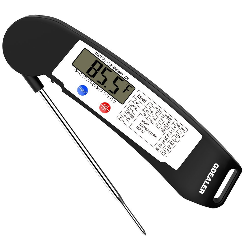 gdealer instant read thermometer the grilling life. Black Bedroom Furniture Sets. Home Design Ideas