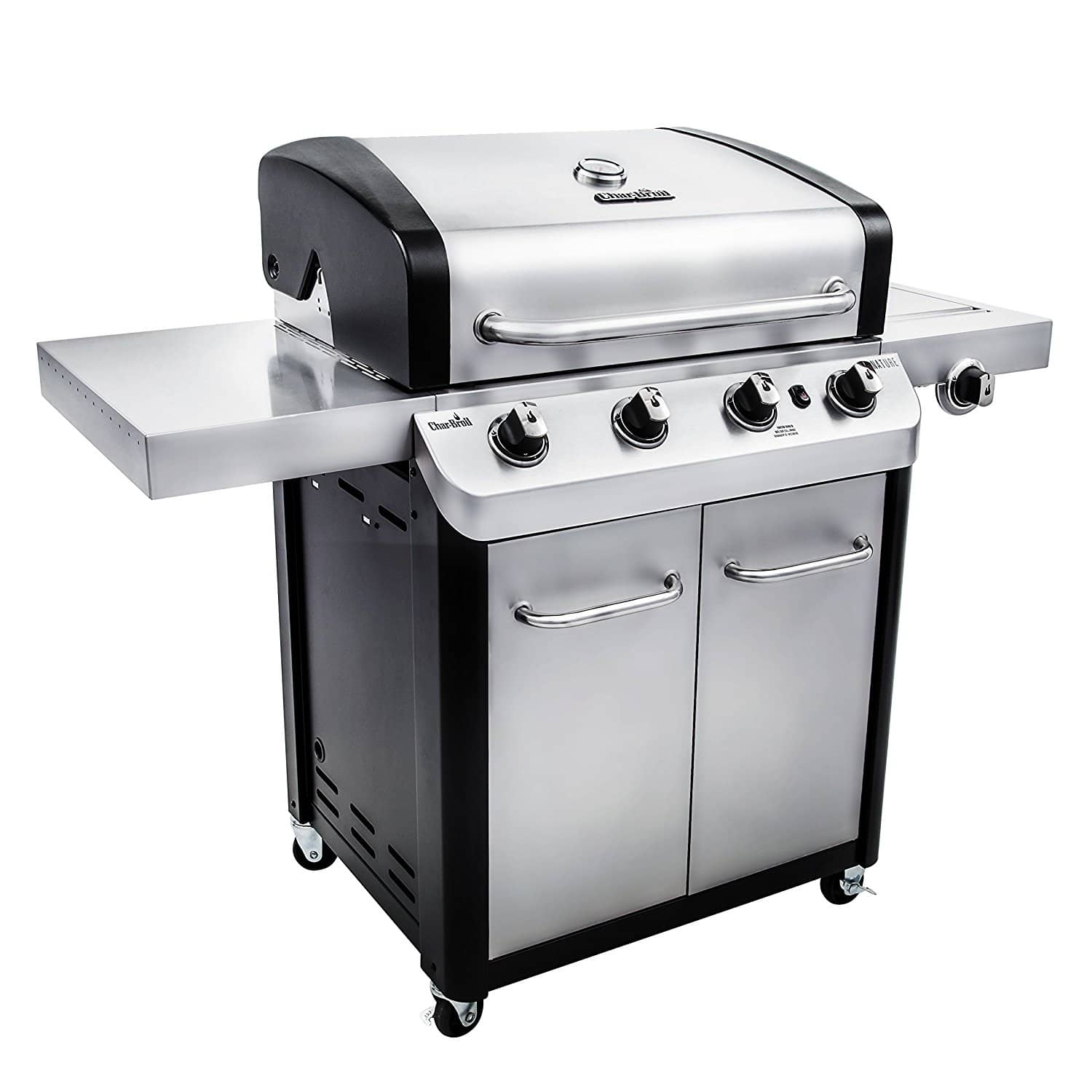 char broil signature 530 4 burner cabinet gas grill the grilling life. Black Bedroom Furniture Sets. Home Design Ideas