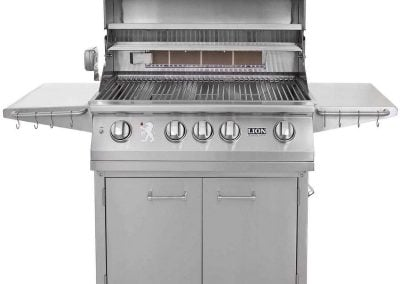 Lion 32 Inch Stainless Steel Propane Gas Grill On Cart 1
