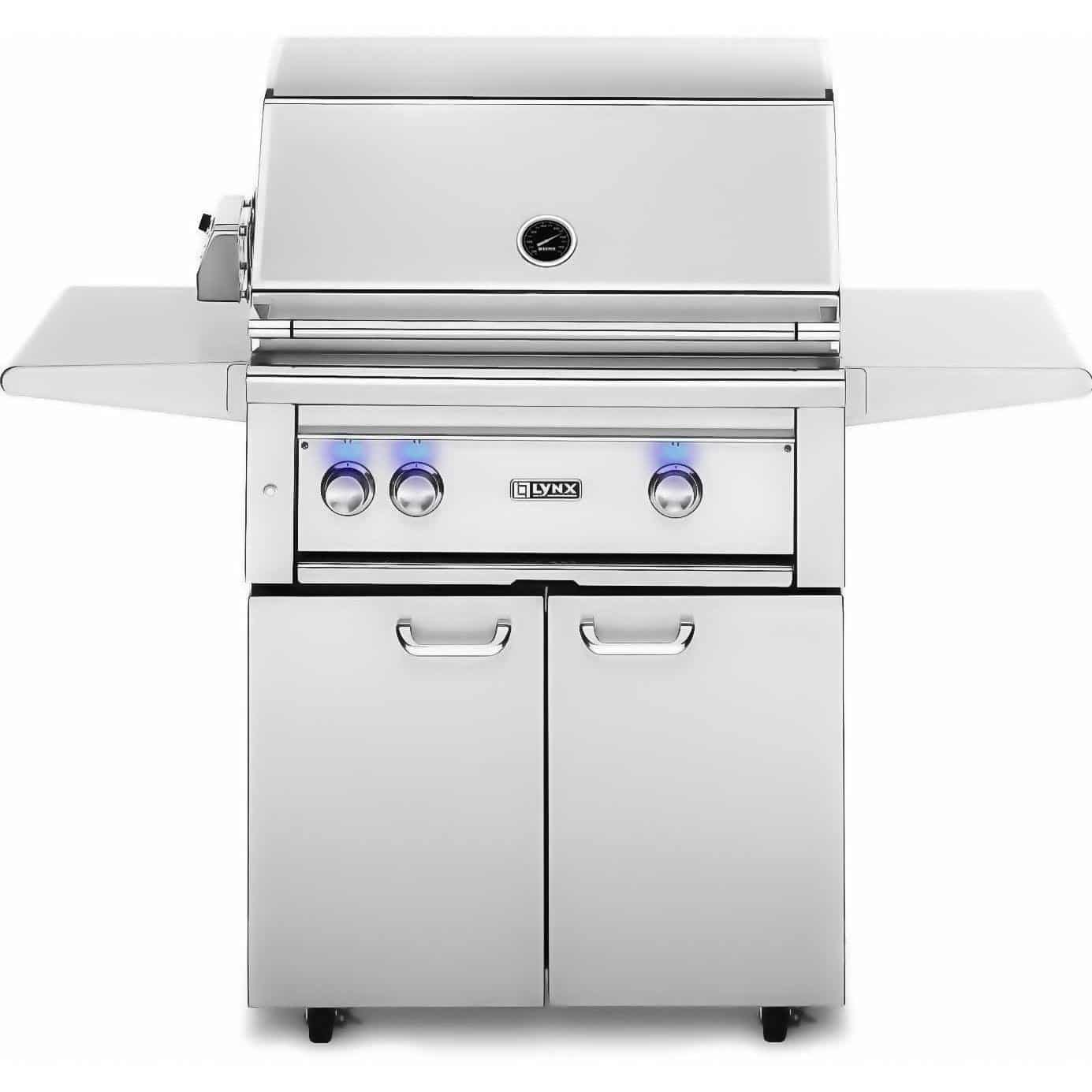 Lynx L30PSFR-2-LP Propane Gas Grill – On Cart with Pro Sear Burner and Rotisserie, 30-Inch