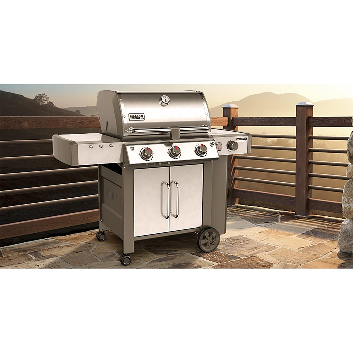 weber 61004001 genesis ii lx s 340 liquid propane grill the grilling life. Black Bedroom Furniture Sets. Home Design Ideas