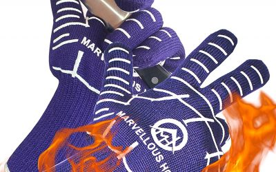 Marvellous Home High Heat BBQ Gloves Review And Rating – Glow In The Dark Grilling Gloves