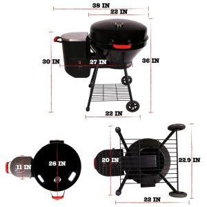 Rec Tec Grills Bullseye RT-B380 Wood Pellet Grill Size