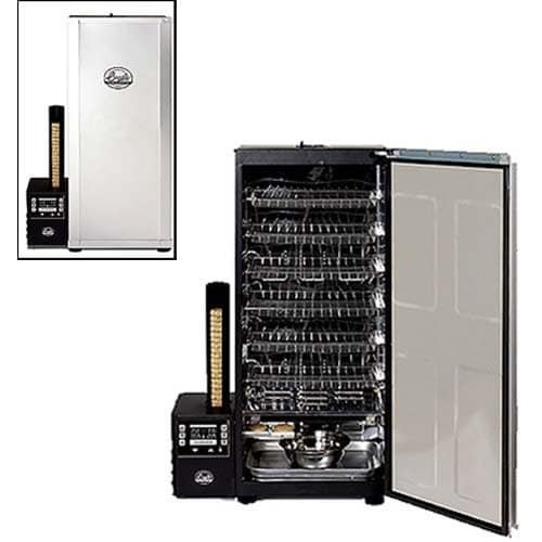 Bradley 6 Rack Digital Electric Smoker Interior And Exterior View