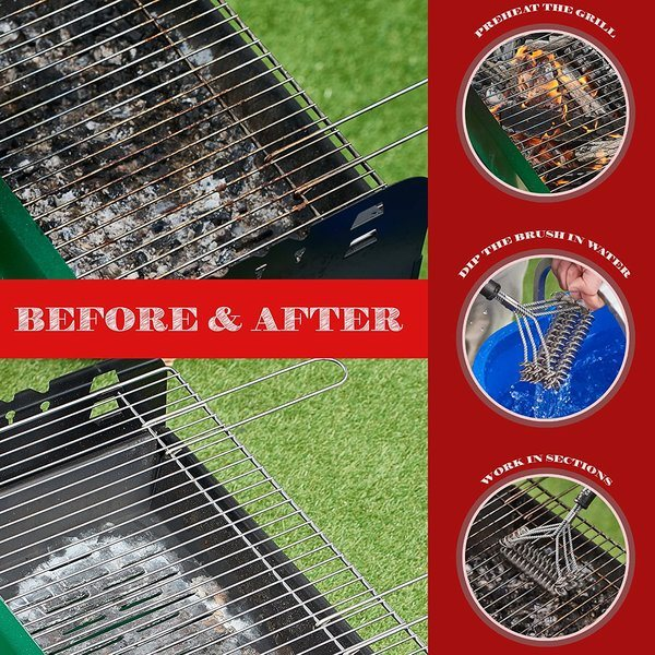 How To Use A Bristle Free Grill Brush 2