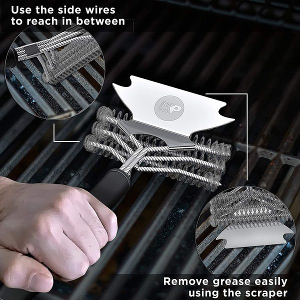 How To Use A Bristle Free Grill Brush - The Grilling Life1