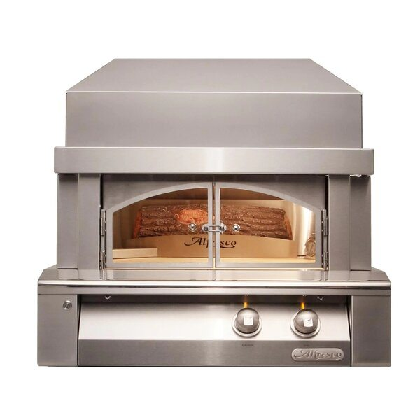 Alfresco 30-Inch Natural Gas Outdoor Pizza Oven Plus - Best Outdoor Gas Pizza Ovens