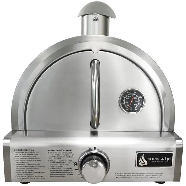 Mont Alpi Portable Propane Gas Outdoor Pizza Oven - Best Outdoor Gas Pizza Ovens -