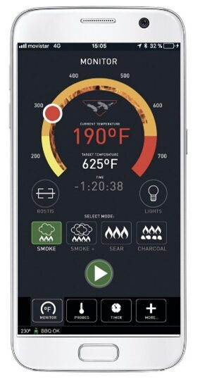 Twin Eagles Wi-Fi Controlled Built-In Stainless Steel Pellet Grill and Smoker Phone App